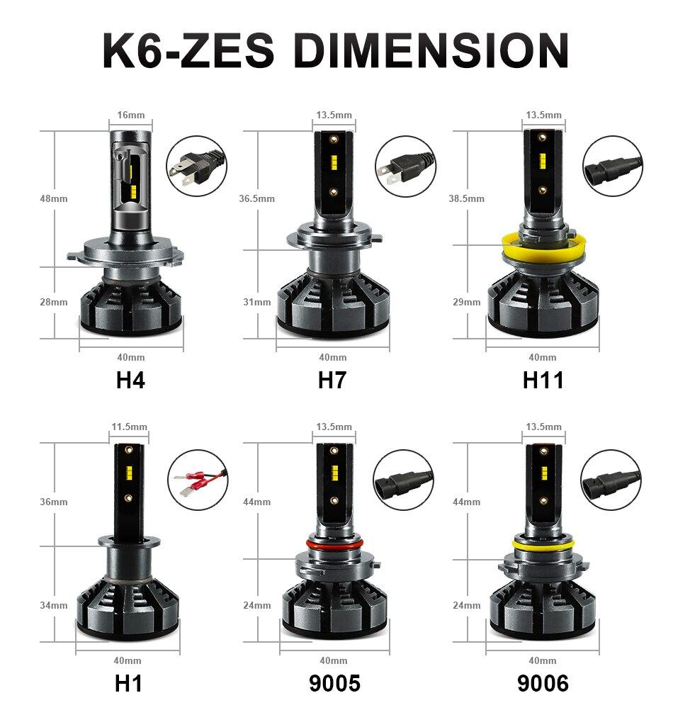 H3a4e0683af2944c18154e3fd049e92a7V hlxg Mini H4 Led H7 with Lumileds ZES 5000K LED 12000LM 72W/set Lampada H1 Bulb HB3 9005 9006 hb4 Fog Light 4300K H8 H11 6500K