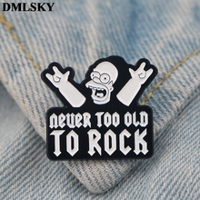 DMLSKY Cartoon Fashion Enamel Pins and Brooches Women Men Lapel Pin Backpack Badge Tie Hat Jewelry M3794