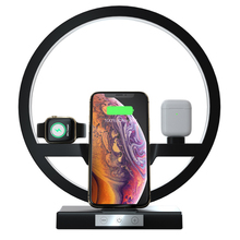 3 em 1 lâmpada de mesa carregador sem fio rápido estação doca para apple watch iwatch 5 4 6 airpods carregamento sem fio para iphone 1112