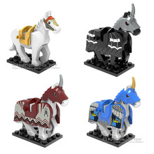 Одиночная X0169 рыцарь лошадь Тигр пантера животные серии строительные блоки Набор Кирпичи Модель игрушки для детей