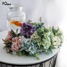 Bouquet Wedding-Decor Fake-Flower Silk Bridesmaids Artificial Meldel Peony Camellia Mixed