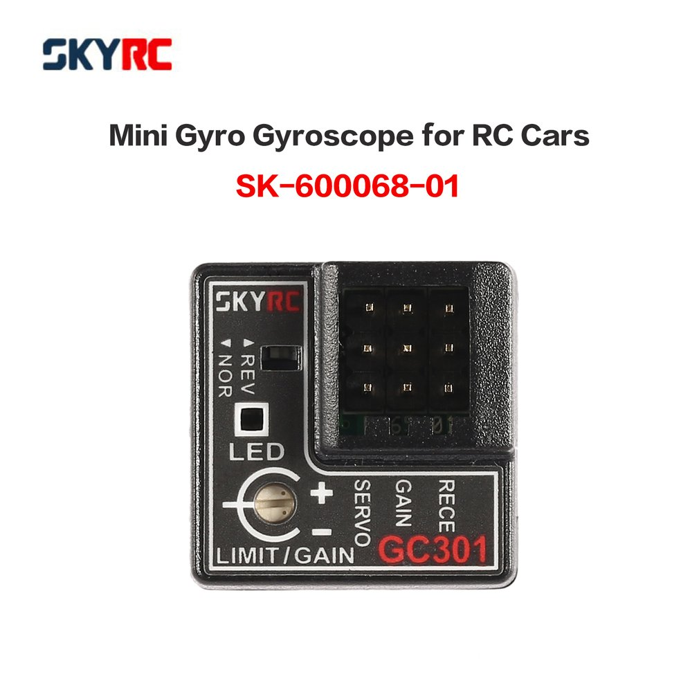 SKYRC GC301 Mini Gyro Gyroscope For RC Car Drift Racing Car Steering Output Integrated Compact Light-weight Design