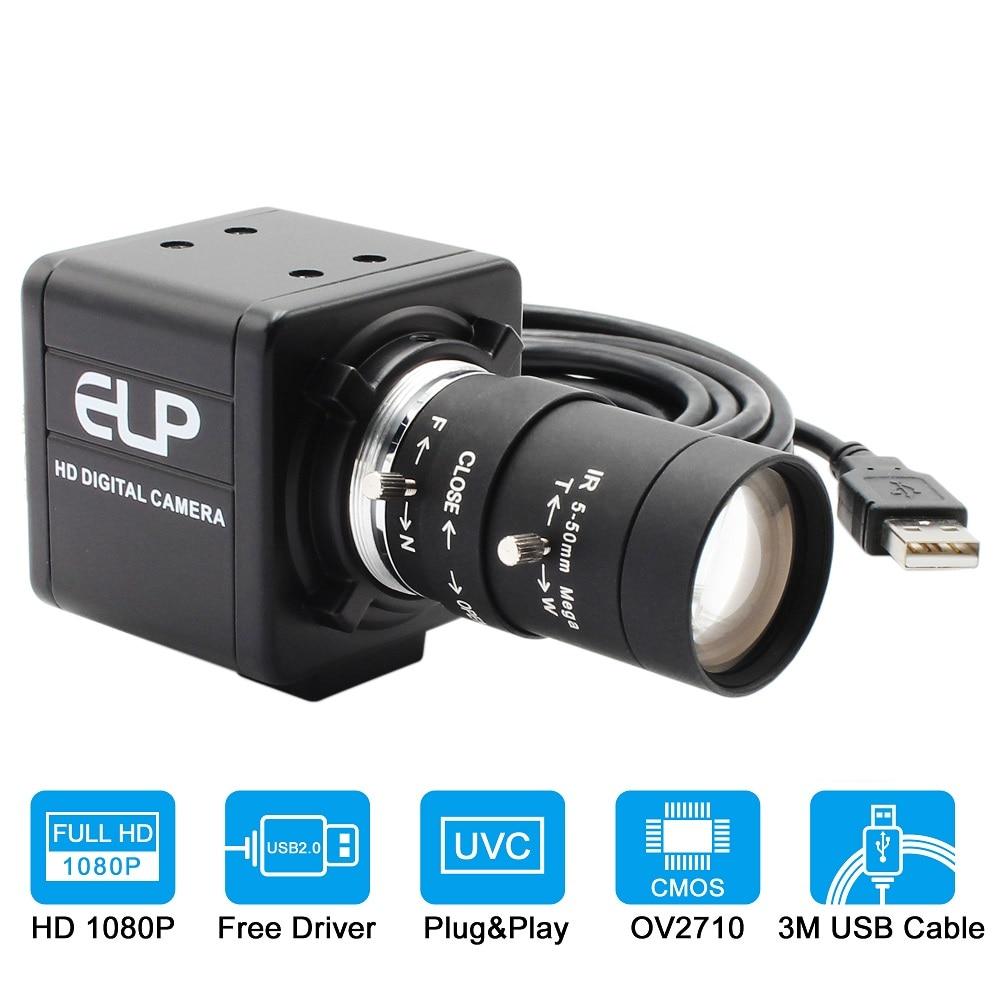 Мини-веб-камера для ПК 1080P Full HD, 30 кадров в секунду, 60 кадров в секунду, 120 кадров в секунду, USB-камера с ручным зумом, варифокальный объектив для...