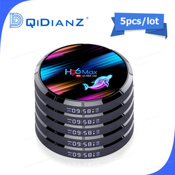 5pcs Android 9.0 TV Box H96MAX X3 1000M Amlogic S905X3 8K Dual Wifi BT Fast Smart TV BOX H96MAX X3 PK HK1MAX H96 a95x