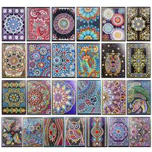 DIY Creative Diamond Painting Notebook Diary Book Special Shaped Mandala 60 Pages A5 Embroidery Cross Stitch Craft Gift