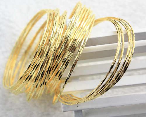 10 sztuk/zestaw złoty otwarty regulowany mankiet bransoletka Bangle dla kobiet moda ślubna biżuteria srebrne bransoletki bransoletki dla kobiet prezenty
