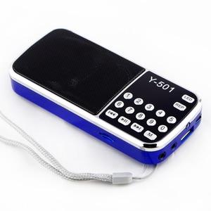 Image 4 - جديد حار راديو محمول عالية الطاقة مشغل MP3 الصوت الرقمي مشغل موسيقى مع مصباح ليد جيب