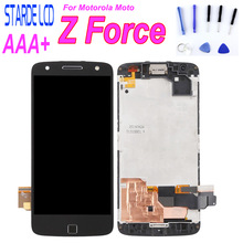Screen For Motorola Moto Z Force Droid XT1650 LCD Display Touch Screen Digitizer Frame Replacement For Moto Z Force Droid LCD купить недорого в Москве