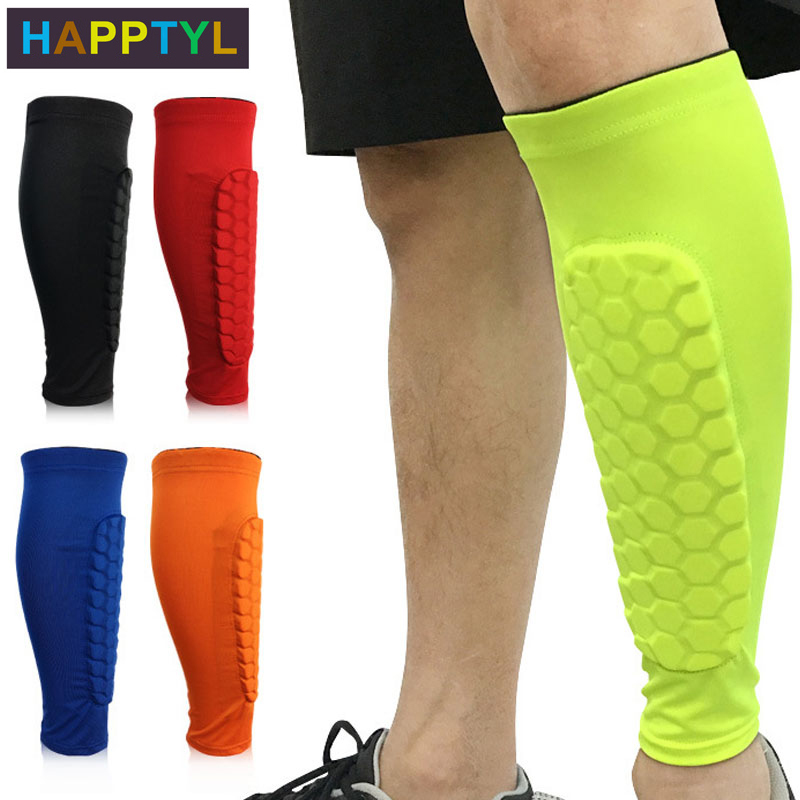 HAPPTYL 1Pcs Honeycomb Compression Calf Sleeve - Shin Splint Leg Sleeves Support For Calf Pain Relief Running Cycling Football