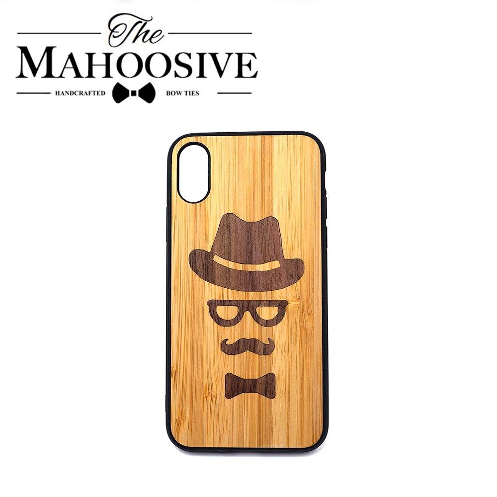 Cover per telefono in legno fatta a mano per Iphone XS Max XR X 8 7 6 6S Plus 11 Pro custodie posteriori morbide di lusso conchiglia in legno