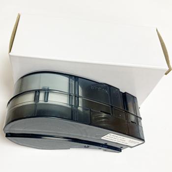 Kompatybilny M21-750-427 kaseta wstążka winylu etykiety taśmy czarny na biała folia pracy z przenośna drukarka BMP21-PLUS tanie i dobre opinie NoEnName_Null CN (pochodzenie) Black on White 21 Length 0 75 Width Vinyl
