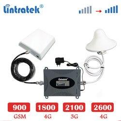 Lintratek 2600 B7 4G LTE 2600mhz cellular verstärker repeater 3G 2100 WCDMA GSM 900 1800mhz 4g LTE signal booster Set antenne sk