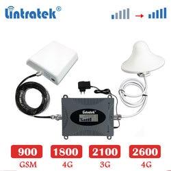 Lintratek 2600 B7 4G LTE 2600mhz cellulare amplificatore di ripetitore del ripetitore 3G 2100 WCDMA GSM 900 1800mhz 4g LTE ripetitore del segnale Set antenna sk