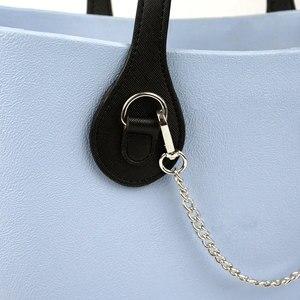 Image 5 - Tanqu Asas largas y cortas para bolso O con borde pintado, hebilla en D, manijas de piel sintética con punta en forma de lágrima redonda, para OBag, piezas para bolsos de cinturón
