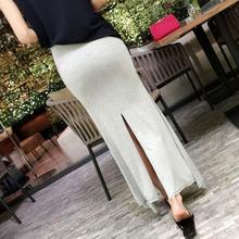 TVVOVVIN luźne Korea 2021 lato w stylu Casual z falbanami proste damskie nowy podział Temperament długie spódnice kobiety długa spódnica ubrania QA97 tanie tanio Włókno bambusowe CASHMERE Modalne Poliester spandex Wiskoza CN (pochodzenie) Osób w wieku 18-35 lat A-LINE Ruffles black