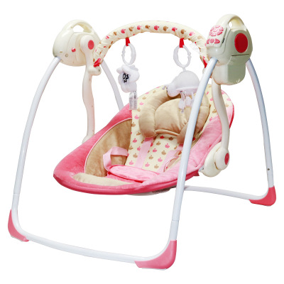 Portable Folding Baby Electric Rocking Chair Swing Music Electric Multi-function Cradle Rocking Chair Baby Bouncer
