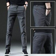 Мужские штаны, повседневные, высокое качество, Классические, модные, мужские брюки, деловые, формальные, полная длина, Мужские штаны, s 38