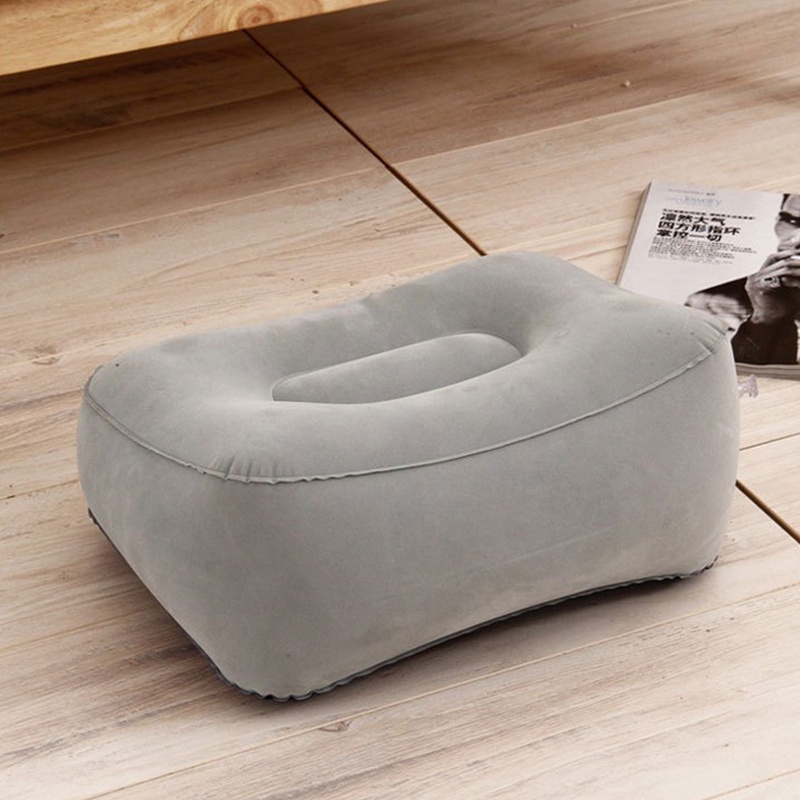 Image 4 - 3 Layers Inflatable Travel Foot Rest Pillow Airplane Train Car Foot Rest Cushion Like Storage Bag & Dust Cover Inflatable Pillow-in Decorative Pillows from Home & Garden