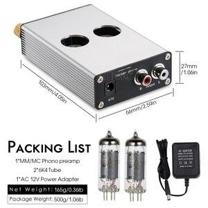 Image 5 - Douk Audio HiFi 6K4 Vacuum Tube MM/MC Phono Stage Preamp Mini Turntable Audio Preamplifier