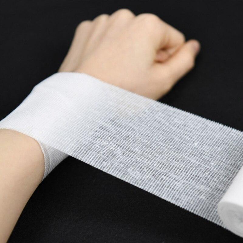 10Rolls/Lot 8cm*600cm Cotton Bandage First Aid Kit Gauze Roll Wound Dressing Medical Nursing Emergency Care Bandage