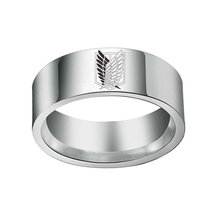 Hot Sale Anime Attack On Titan Silver Drip Ring Giant Legion