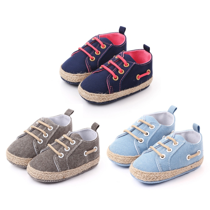 Newborn Shoes Infant Baby Girls Boys Soft Sole Anti Slip Flats Canvas Sneakers Shoes Fashion Casual First Walkers