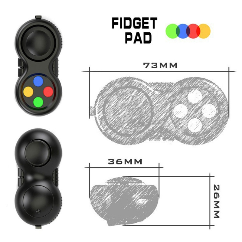 Focus-Toy Cube-Game Fidget-Controller Stress Abs-Plastic Pad Dropship Smooth img2