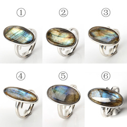 Labradorita anillo hecho a mano anillo personalizable, anillo de plata regalo para ella