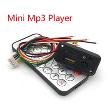Araba 5 V/12 V Mini MP3 Dekoder Kurulu USB TF U disk Okuyucu MP3 Çalar Amplifikatör Ile IR Uzaktan Kumanda Uno Için