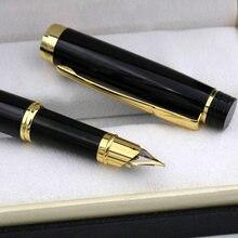 Luxo herói 3802 metal caneta fonte retro médio nib ouro preto presente artigos de papelaria escritório escola suprimentos