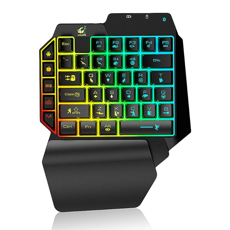 G11 39 Keys Mini Wireless Single-Handed Keyboard Computer Laptop PC Bluetooth 4.0 Phone Gaming Keypad For Android IOS