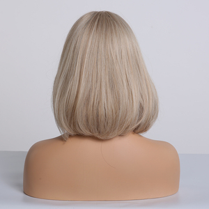 Image 5 - Easihair女性のためのショートボブウィッグ人工毛側部耐熱オンブルかつら高温繊維グルーレスストレートかつら