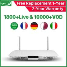 цены IPTV France Box Q1404 Android 8.1 TV Box With 1 Year QHDTV Subscription IPTV France Arabic Belgium Netherlands Tunisia IP TV