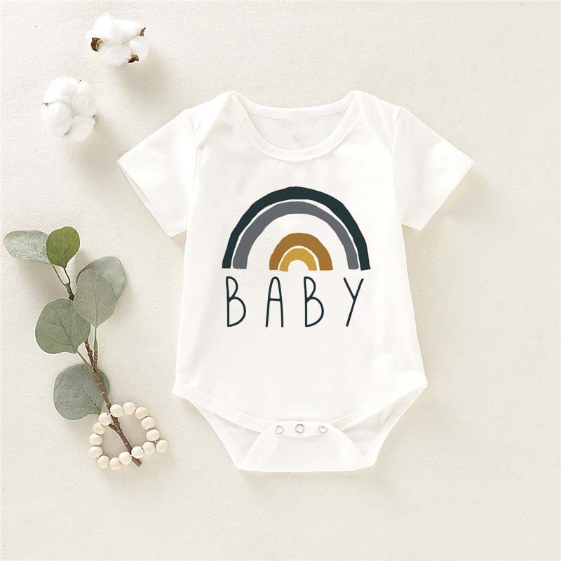 New Arrival Spring Fall Letter Rainbow Casual Girls Clothing Jumpsuit For Girls Clothes Sets Kids Shorts Overalls