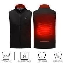 цена Winter Heating Vest Jacket Men Women Outdoor USB Infrared Heating Vest Electric Thermal Clothing Waistcoat For Fishing Hiking онлайн в 2017 году