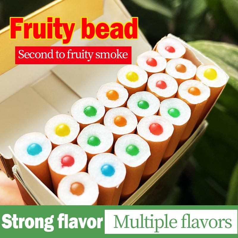 100 шт всасывающие бусины фильтры для сигарет держатель с фруктовым
