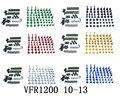 CNC полный обтекатель болты для кузовных работ гайки комплект для Honda VFR1200 2010-2013