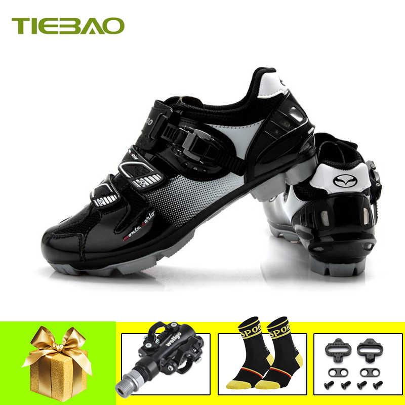 Tiebao Cycling Shoes sapatilha ciclismo mtb men women Self-locking Bike Sneakers pedales mountain bike Ride MTB Bicycle Shoes
