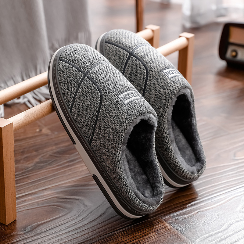 Mens House Slippers Winter Shoes 2019 Women Home Slippers Indoor Warm Soft Sole Male Felt Slipper Adult Moccasin Room Footwear
