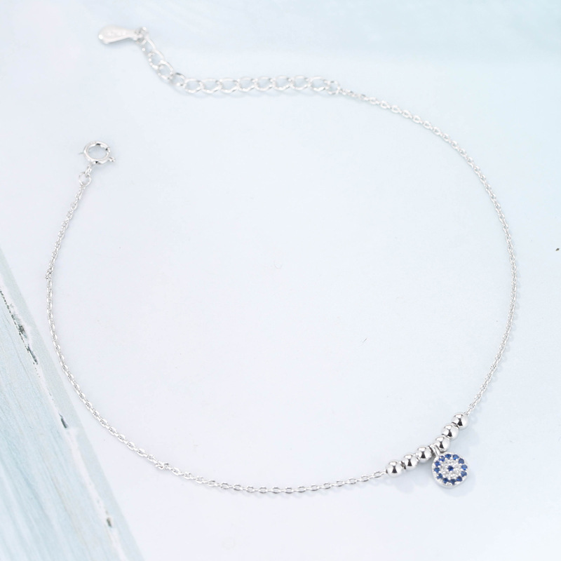 Summer Fashion 925 Sterling Silver Chain Anklets For Women Beach Party Beads Ankle Bracelet Foot Jewelry Girl Best Gifts