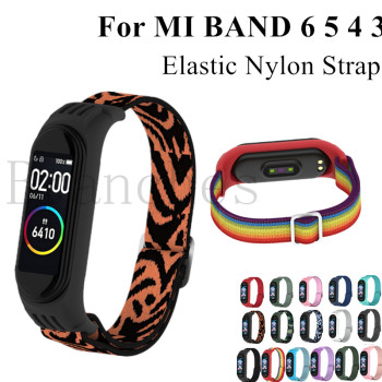 Nylon strap For Xiaomi MI Band 6 5 4 3 Elastic Replacement Bracelet Sport Wristband mi Band 4 3 Smart Watch Accessories Loop 1