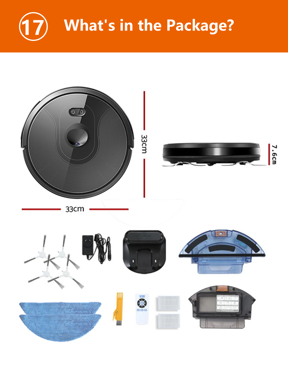 H3a5097b5bfd148818a7af31c5de062a24 ABIR X6 Robot Vacuum Cleaner with Camera Navigation,WIFI APP controlled,Breakpoint Continue Cleaning,Draw Cleaning Area,Save Map