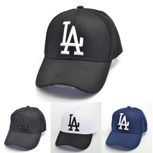 Fashion trend embroidery letters LA baseball caps men and women outdoor sport ad