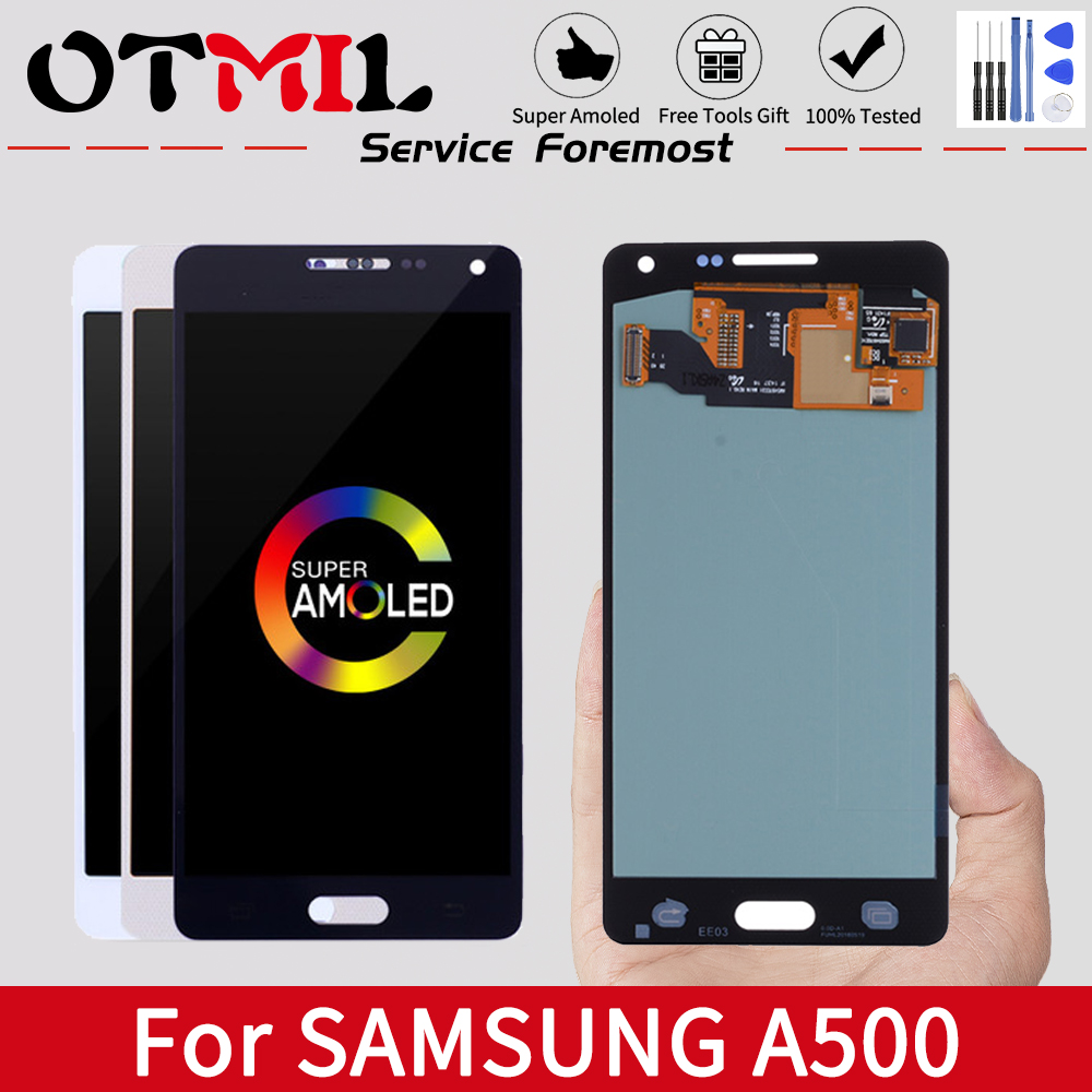 OTMIL 5.2'' <font><b>LCD</b></font> For <font><b>SAMSUNG</b></font> GALAXY A5 2015 <font><b>LCD</b></font> Display Touch Screen Digitizer Assembly Frame For <font><b>SAMSUNG</b></font> A510 A510 <font><b>A510F</b></font> <font><b>LCD</b></font> image