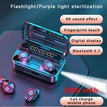 Słuchawki Bluetooth bezprzewodowe słuchawki douszne wyświetlacz LED 5.0 TWS słuchawki podwójne słuchawki Bass dźwięk dla Huawei Xiaomi Iphone Samsung telefon