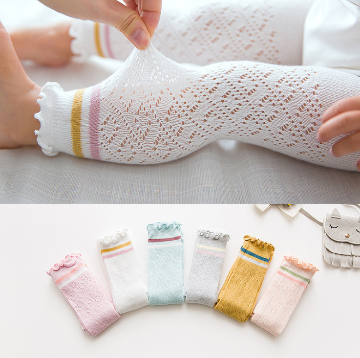 Baby Spring Summer Tights Hot Baby Toddler Kid Girl Ribbed Stockings Cotton Warm Cotton 100% Solid Candy Color Tight 0-4Y