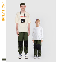 INFLATION Family Matching Clothes Father Son Cargo Pants Streetwear Outfits Jogger