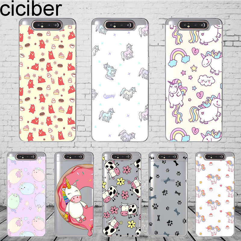 ciciber Phone Case Cover for Samsung Galaxy A50 A70 A80 A60 A40 A30 A20 A10 A20e Soft Silicone TPU Fundas Coque Animal Unicorn