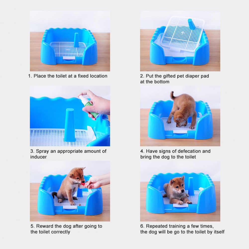 Plateau de toilettes Portable pour animaux | Clôture de toilette pour animaux domestiques, support de formation pour chiots chiens avec clôture et pochoir pour petit pot d'animaux