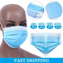 3 Laye Maske staub schutz Masken Einweg Gesicht Maske Elastische Ohr Schleife Einweg Staub Filter Sicherheit Maske Für Haar Salon verwenden